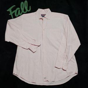 VINEYARD VINES pink & white plaid murray shirt